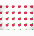 horizontal card pattern with cartoon red apples vector image vector image