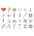 Hospital colorful icons set vector image vector image