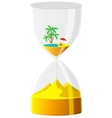 Hourglass The inevitable time vector image