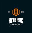 hv logo vector image vector image