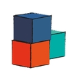 Isolated block toy design vector image vector image
