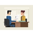 Job interview flat design vector image vector image