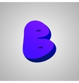 Letter B comic style font EPS10 vector image
