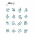 line science icons set on white background vector image vector image