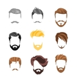 Male Hairstyle Constructor For Face Set vector image vector image