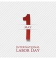 May 1 Banner International Labor Day vector image