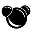 molecule reaction icon simple black style vector image vector image