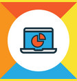 monitor colorful outline symbol premium quality vector image vector image