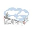 mons belgium europe sketch city line art vector image vector image