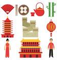 national cultural symbols of china sushi hand vector image