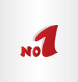 no 1 number one winner symbol vector image