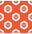 Orange hexagon basketball pattern vector image vector image