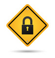 padlock road sign vector image