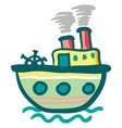 painting of a colorful steam ship boat or color vector image vector image
