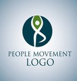 PEOPLE MOVEMENT LOGO 8 vector image