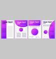 purple gradient brochure template for business vector image
