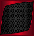 Red metal plate Black metal background vector image vector image