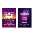 retrowave music party nightclub ad poster vector image vector image