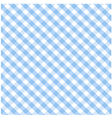 Seamless blue plaid pattern vector image
