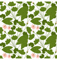 seamless pattern with delicate lotus flowers vector image vector image