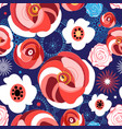 seamless summer floral pattern roses vector image vector image