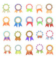 set awards ribbons icons vector image vector image