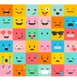 set colorful emoticons pattern vector image