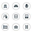 set of simple furnishings vector image