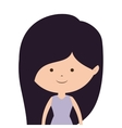 silhouette half body girl with purplehead vector image vector image