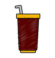 soda delicious drink vector image vector image