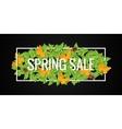 Spring Sale Banner Design Border Background vector image vector image