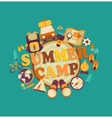 summer camp vector image vector image