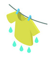 t-shirt icon isometric 3d style vector image vector image