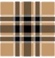 tan and black tartan plaid seamless pattern vector image vector image