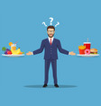 the choice of the businessman vector image