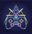 video game neon vector image vector image