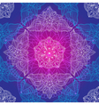 Vintage seamless violet-blue pattern vector image vector image