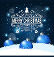 winter holiday greeting card with merry christmas vector image vector image