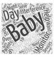 Wireless Baby Monitors Night Day Word Cloud vector image