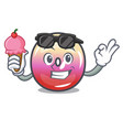 with ice cream jelly ring candy character cartoon vector image