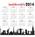World calendar vector image vector image