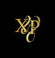 xp x p logo initial mark vector image