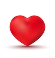 Beautiful red heart vector image