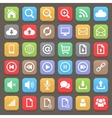 Web and internet flat icon set element vector image