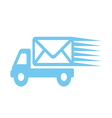 delivery kamion sa pismom1 vector image