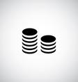 coins symbol vector image