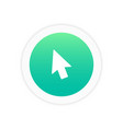 cursor icon sign vector image