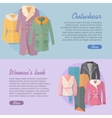 Outerwear Women s Look Web Banner Apparel vector image