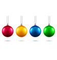 2019 new year toys or christmas baubles vector image