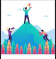 achievement goal financial success vector image